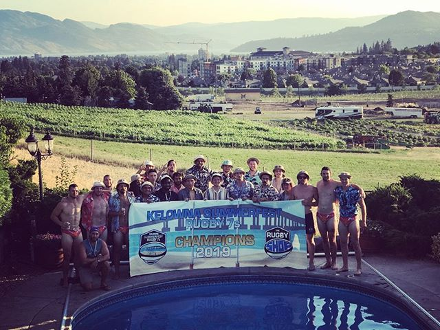 """Season 2 of Okanagan Rugby Club has come to an end, with a total of four Elite 7s tournaments (Coos) and three Social 7s tournaments (Tropicoos). We were fortunate enough to win three of seven total tournaments - Kelowna Elite, Bayside Elite and Bayside Social. We had two Second place finishes, Elite Langford & Social SFU. All in all, a very successful season and big improvement from our inaugural year!  Mixed into our core group of Interior players, we were lucky enough to have some high quality additions... This included our first two international players, @murdo_mcandrew (Scotland U20 & Scottish Club XVs, Melrose Southern Knights) and @fidindon (France U17/18/19/20, France Mens 7s, ProD2, Top14). We had three new current national players - @doug_fraser (Austin Elite & Canada XVs), @isaac.kaay (Canada 7s and Kamloops native), @dustin.dobravsky (Canada XVs and ex Canada 7s). New honorable mention players such as @iam_toroca7 , 2nd highest try scorer after just three tournaments (10 tries) and Williams Lake native @stewedprunes , current starter for BC Bears. We also had notable returnees @kai.lloyd (Canada XVs & 7s) & @morleywakefield (BC Bears). With that said, we've never played a tournament with more imports than locals, and we don't intend to. This is because our locals blend in perfectly with all of our capped and professional players which is extremely impressive and gratifying to witness. Our local boys are making a name for themselves and turning heads while doing it! At the same time, we provide national players with a team that's based on a """"no dickhead policy"""", run by current and recent players that emphasize on team bonding on and off the field... Win win for everybody.  Thank you to our sponsor, @therugbyshop for providing us with the hottest kit in the country and allowing us to take part in so many great tournaments. Lastly, thank you to the players, their partners and families for taking time out of your summers to enjoy some fun high paced rugby a"""