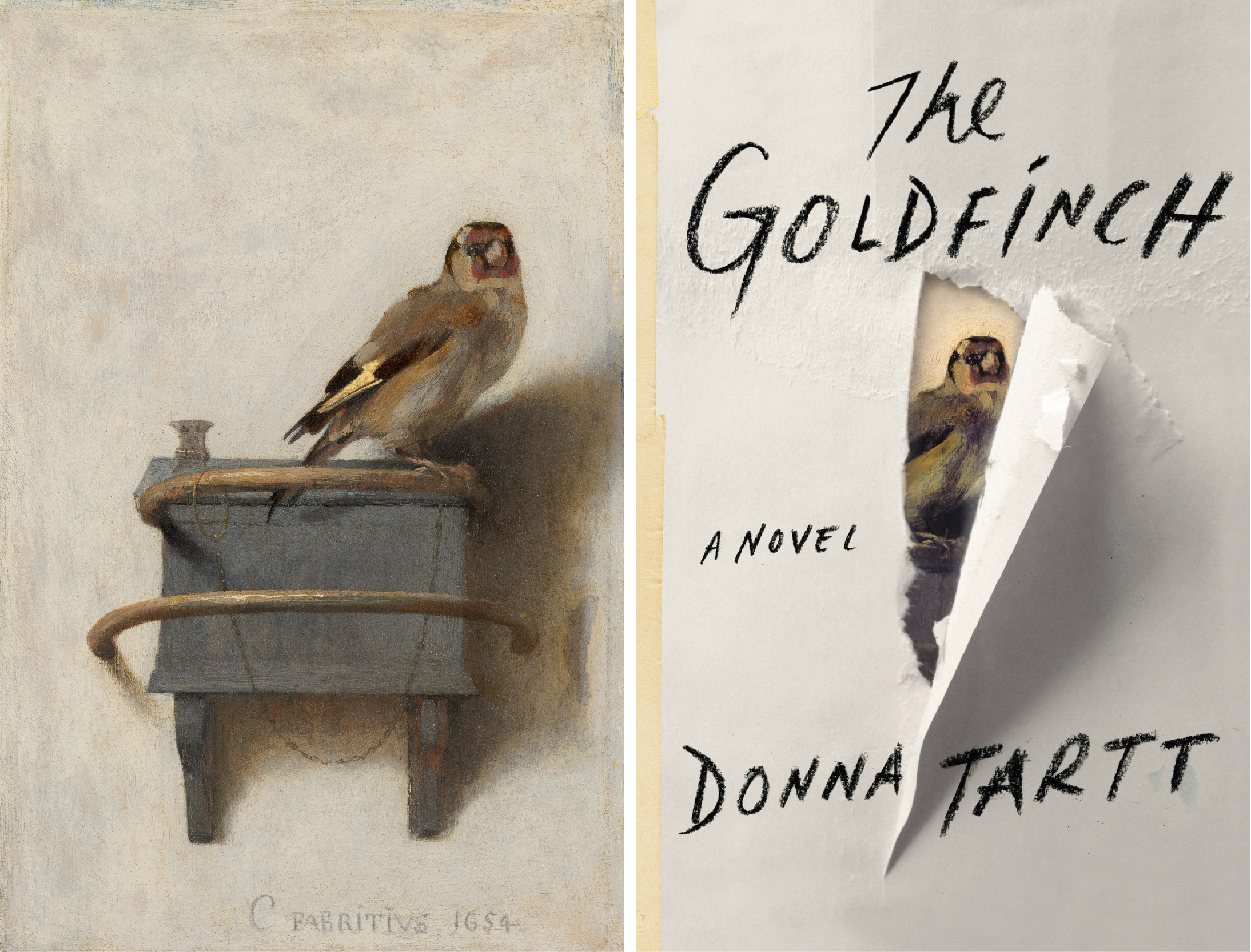 We didn't realize until later that The Goldfinch was based on an actual painting:  The Goldfinch by Carel Fabritius.