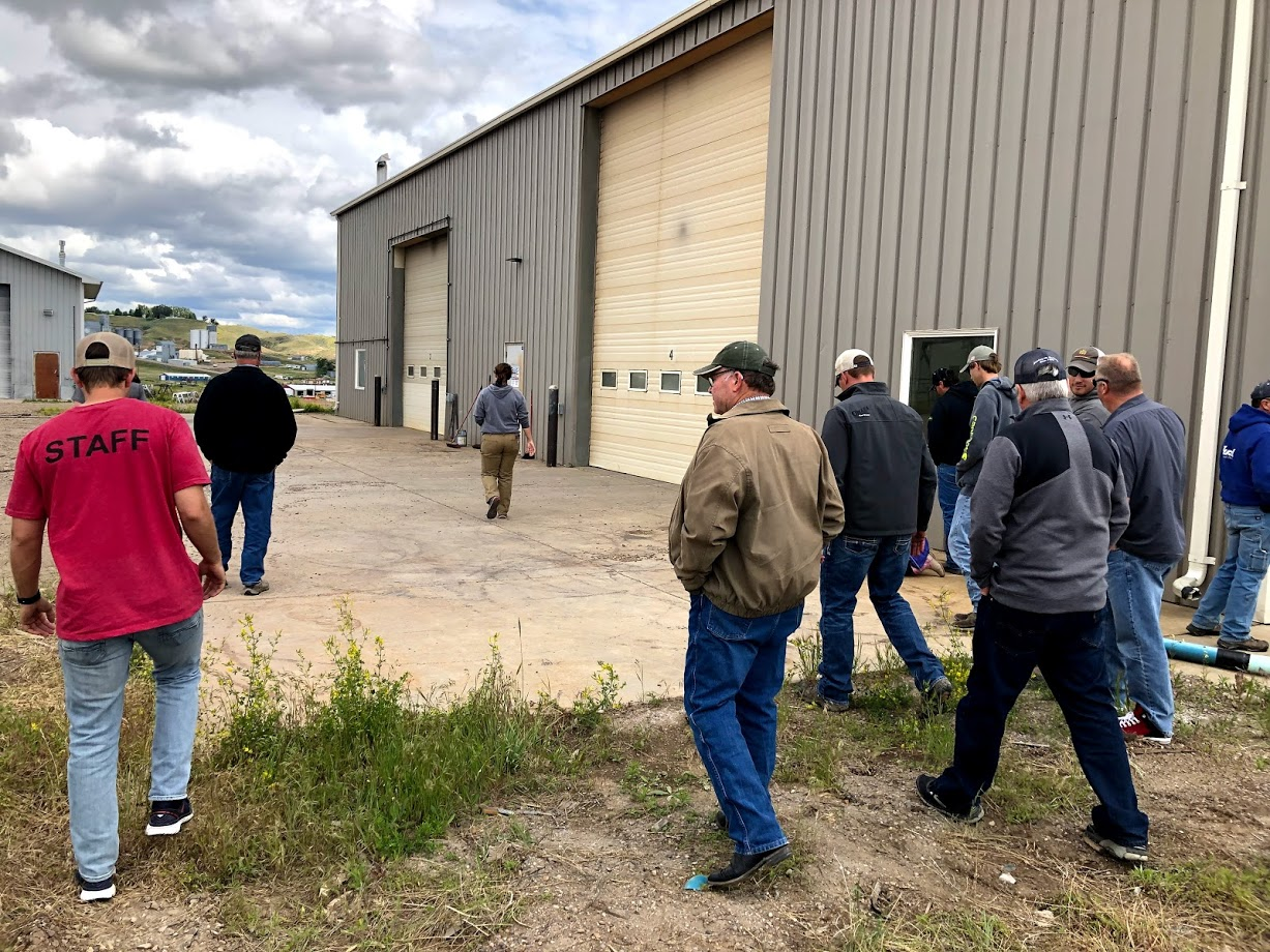 Growers walking the facility grounds with IndHemp co-owner Morgan Elliott