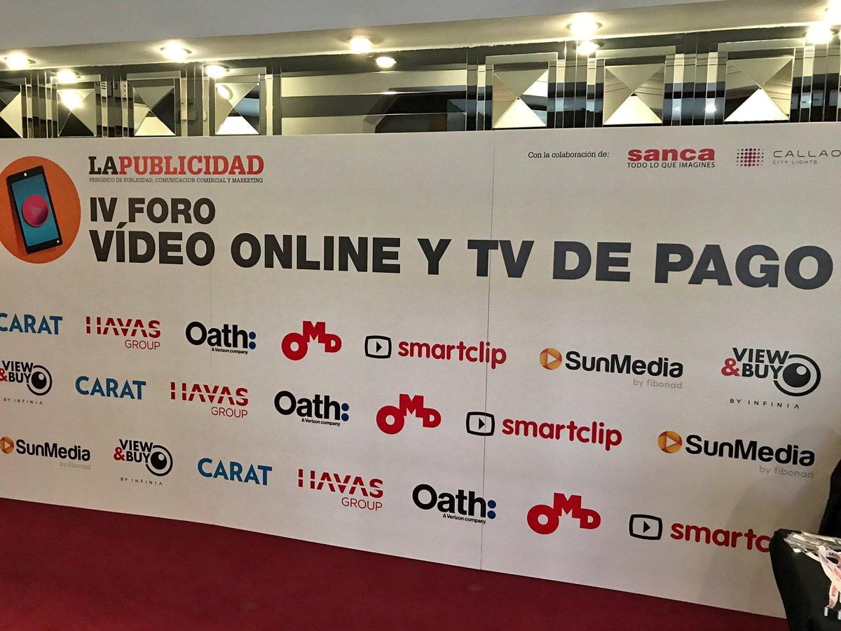 IV Foro de Video Online y TV de Pago - 30/10/2018. Hoy en los Cines Callao de Madrid ha tenido lugar el IV FORO VÍDEO ONLINE Y TV DE PAGO organizado por el Periódico de la Publicidad y con el patrocinio de HAVAS, Carat, Oath, OMD, Smartclip, Sunmedia by Fibonad y View&Buy. Se han tratado temas tan interesantes como la importancia del viewability en la publicidad en vídeo actual, los grandes retos el tema del fraude o la seguridad de la marca.