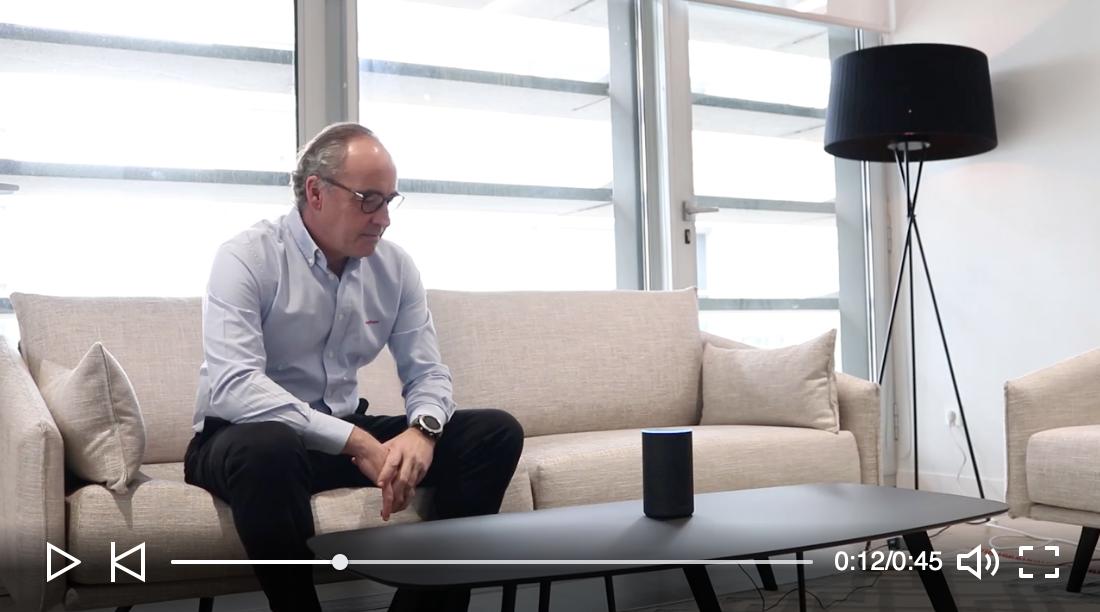 """Telepizza integra Alexa - 5/11/2018. A partir de ahora, los clientes de Telepizza podrán pedir su pizza favorita con tan sólo pronunciar una palabras mágicas a Alexa, el asistente virtual de Amazon. Tan solo tienes que decir """"¡Alexa, mi cuerpo pide Telepizza!"""" y recibirás en casa tu pizza favorita. Pablo Juantegui, CEO de Telepizza lo explica en un video."""