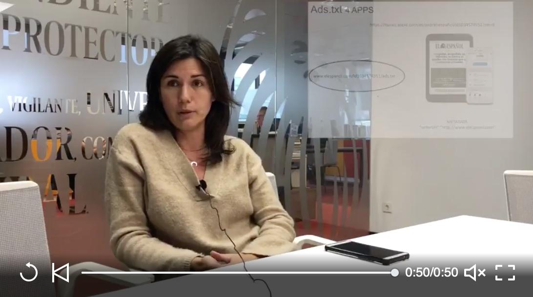 Hoy en FaqFraud: Que es el ads.txt para Apps - 7/11/2018. Madrid. Ana Escudero García responsable de tráfico y operaciones en El Español, habla para FaqFraud sobre qué es ads.txt en Apps.