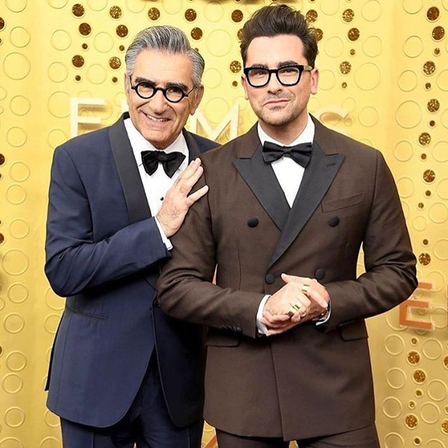Canadian television sitcom @schittscreek created by @instadanjlevy and his father Eugene Levy made history as the first-ever Canadian co-production to be nominated for Outstanding Comedy Series at the #emmys last night. 📸 @nymag @gettyimages  ___ #mondays #newweek #canadianmade #monday #business #ewdavid #art #talent #entertainment #toronto #canada #canadiancreatives #schittscreek #promo #inspo