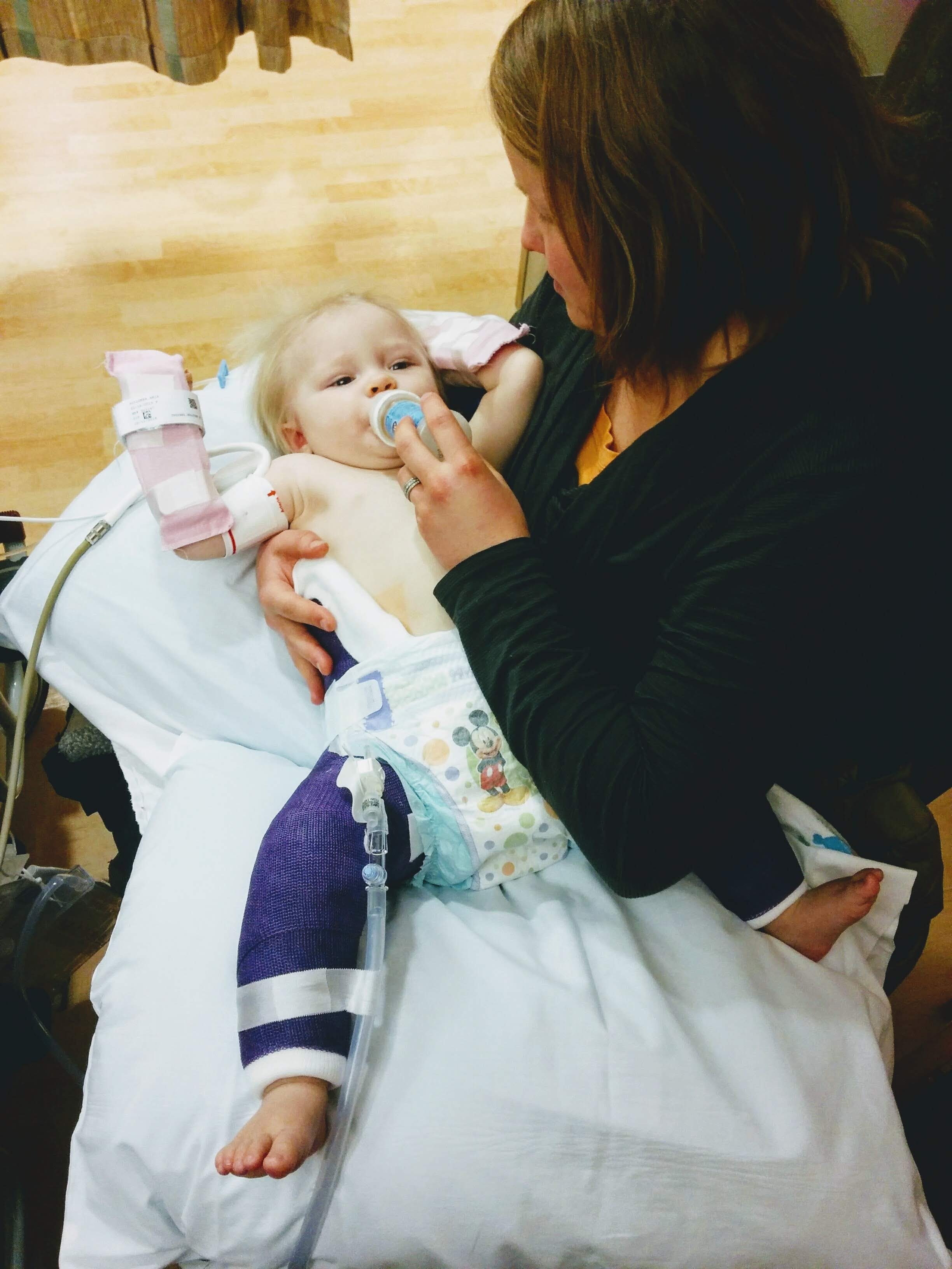 Aria had hip surgery for hip-dsyplasia 3 months before she died. This was right after she woke up from surgery, she just wanted her mom <3