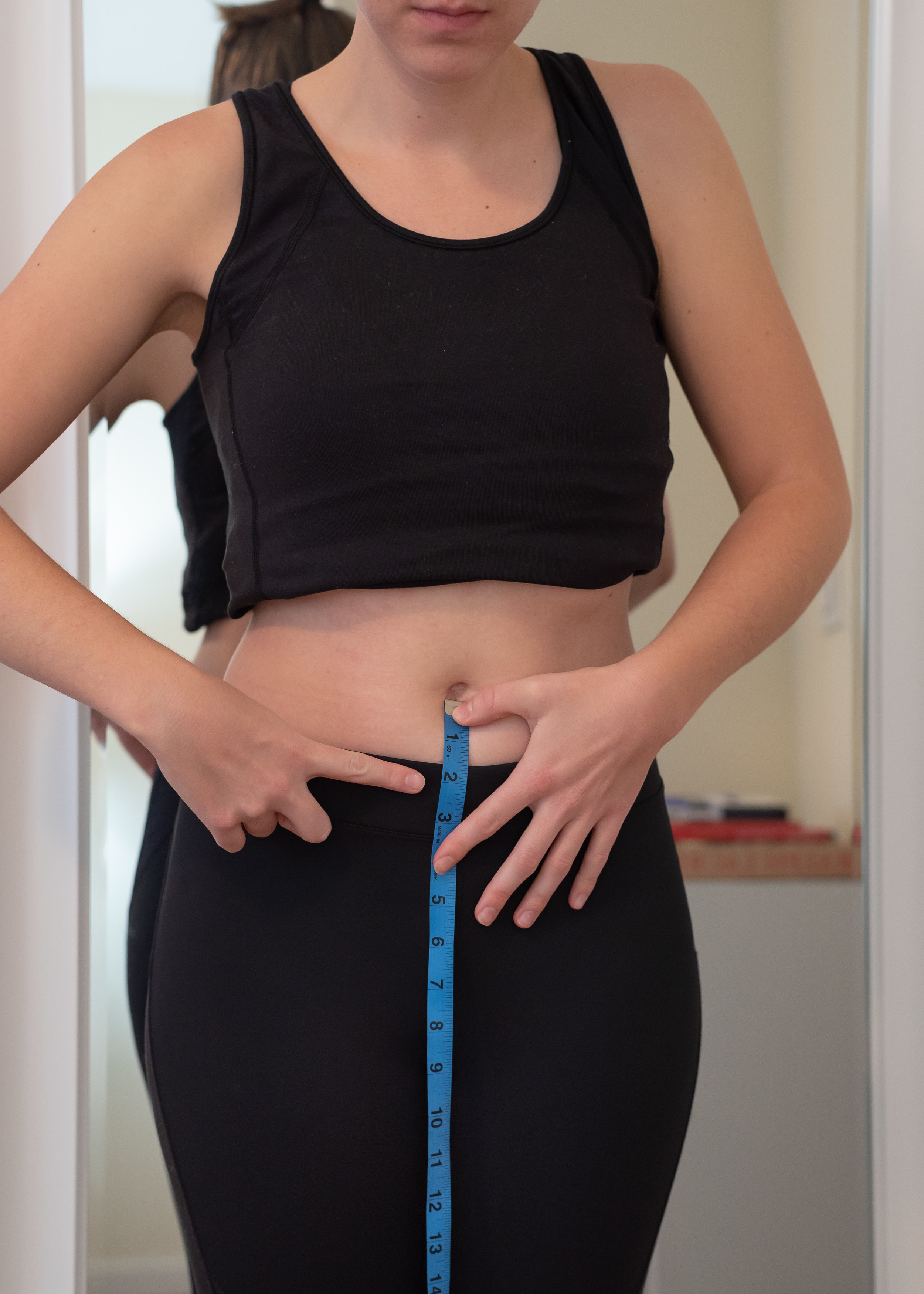 How to take your stomach measurement or wearing waist measurement for clothing