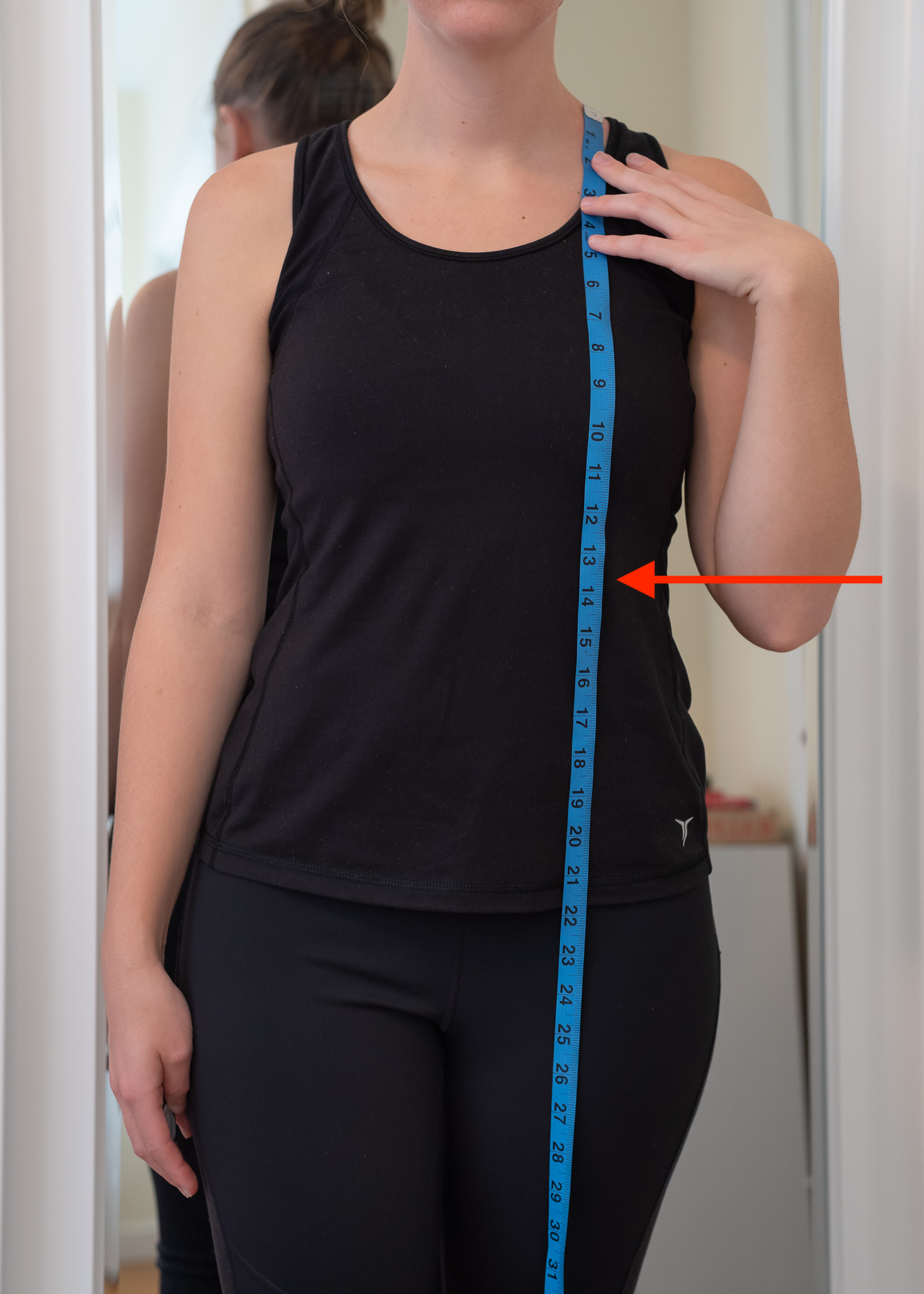 How to take your High Point of Shoulder to Waist Measurement