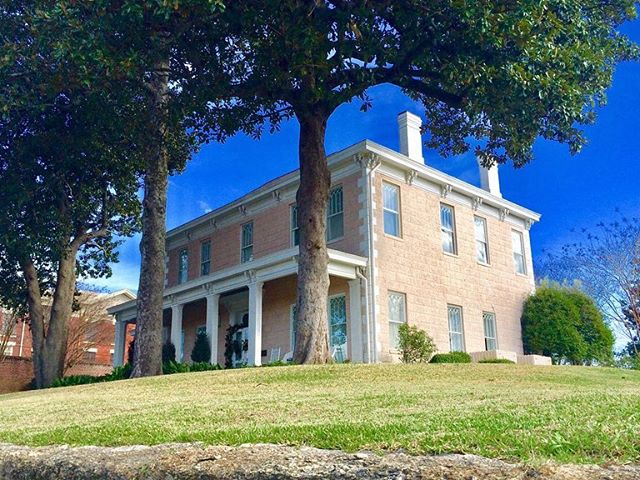 The 1830 Featherston-Magruder antebellum estate located in the heart of historic Vicksburg, Mississippi sits high on a bluff overlooking the Mississippi River Valley