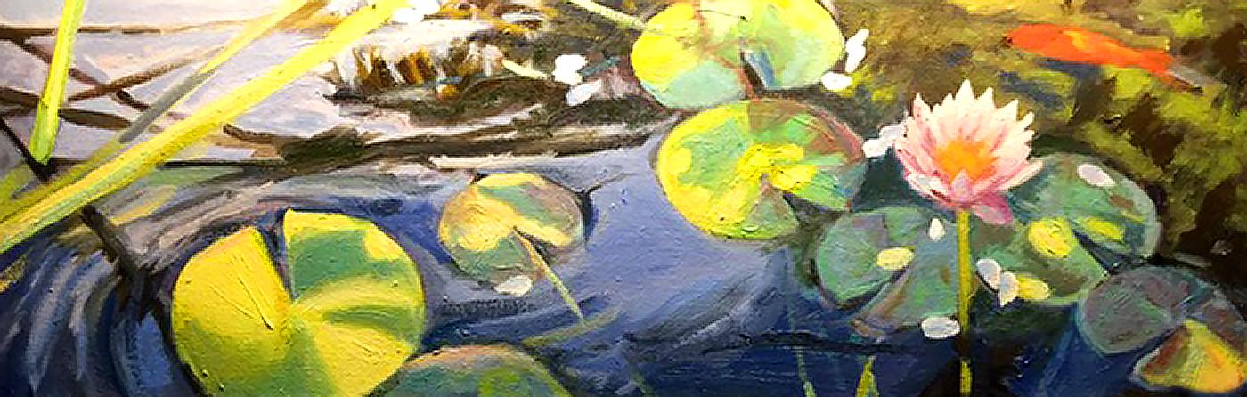 """""""My Backyard Lilies""""; 6x18"""""""