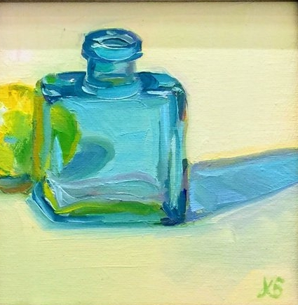 """Blue Bottle""; 8x8""; Sold"