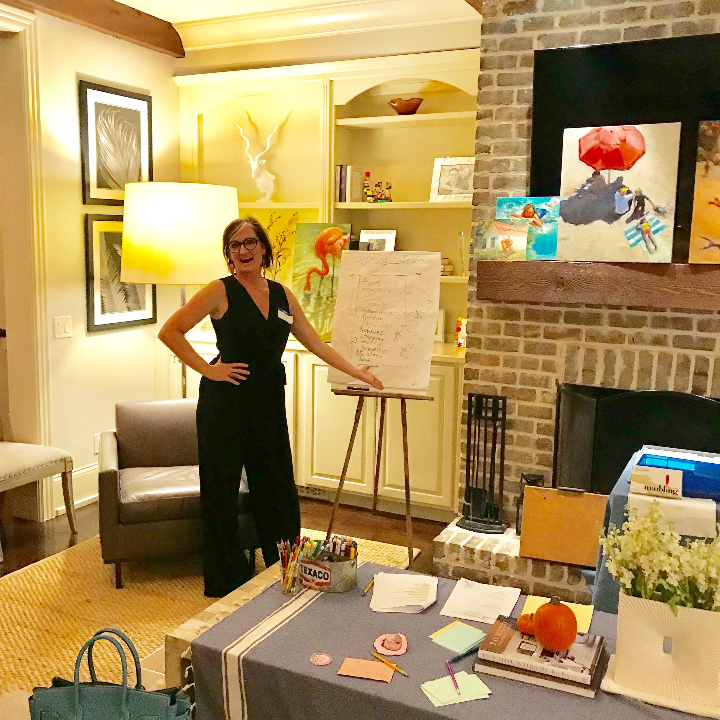 "Speaking about ""Finding Your Creativity During the Mommy Years"" for Mom's Salon in Belle Meade, Tennessee, 2018."