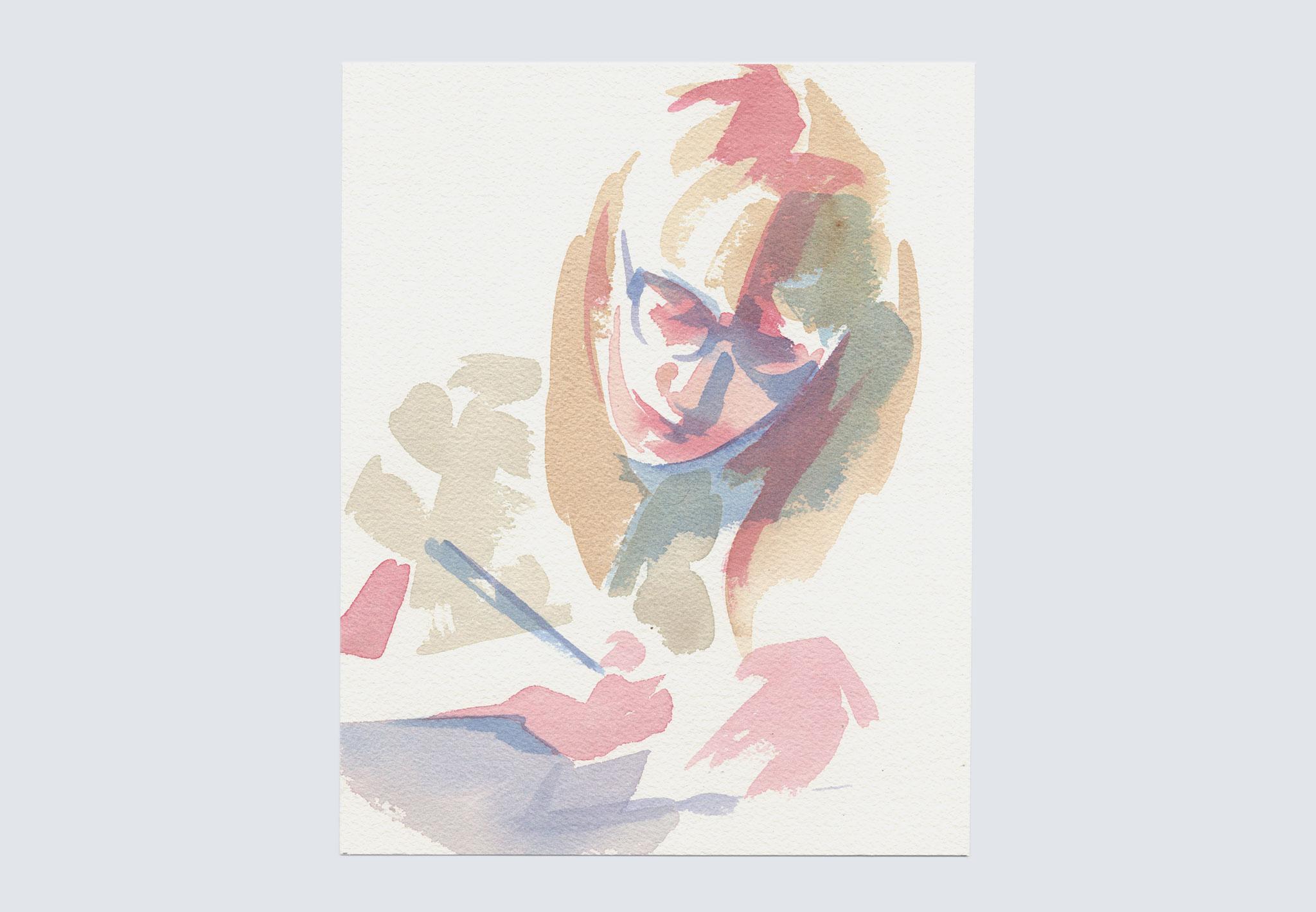 Selfie Watercolor