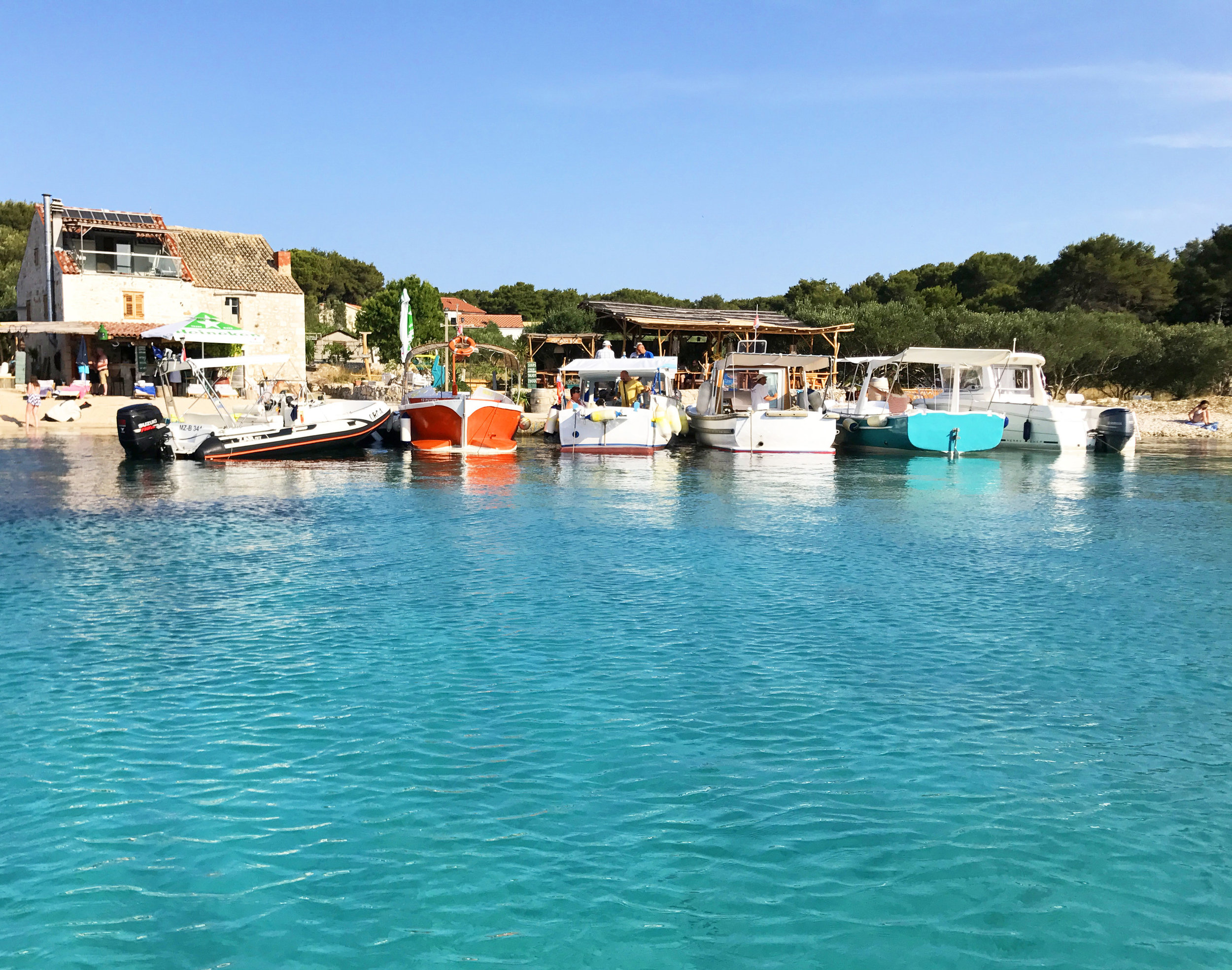 Pakleni Islands, near Hvar - (Which we'll be exploring by boat on day 3 and jumping in this crystal clear water… Will you join us?)