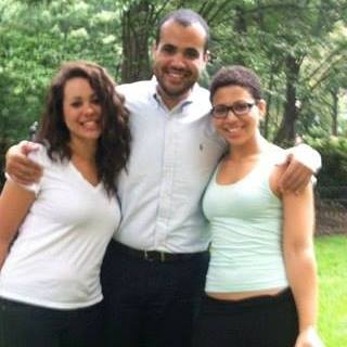 My two sisters and me.
