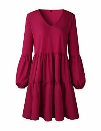 Long Sleeve Loose Swing Shift Dress   multiple colors available   $23.99