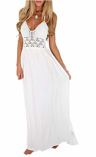 Crochet Backless Bohemian Halter Maxi Long Dress   multiple colors available   $19.99