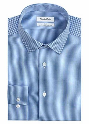 Calvin Klein Gingham Non-Iron Dress Shirt   available in multiple colors   $25.00