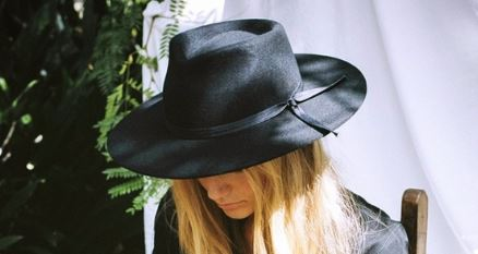 This black wool hat by Lack of Color is made of the best craftsmanship and truly the perfect unisex piece to add to the groom's look or for your off beat adventure bride!