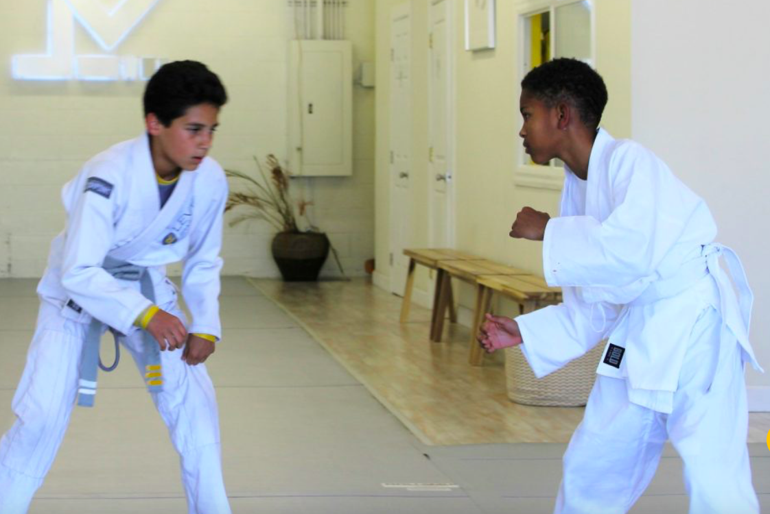 Jiu Jitsu in Cypress, TX for children ages 2 to 14 years old learning bully defense
