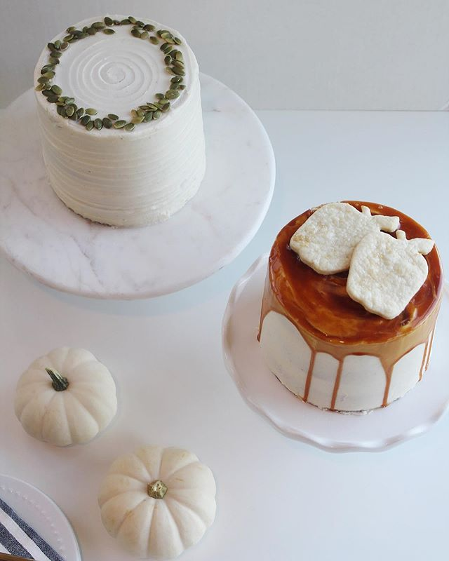 "THANKSGIVING CAKE SPECIALS 🎂🥧🍁 Traditional pie flavors transformed into a festive holiday CAKE!  6"" cake 