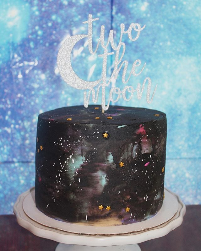 A special galaxy themed cake for my littlest 2nd birthday yesterday. We love you T W O the moon and back, sweet Luca 🌙✨ . . . . #galaxycake #birthdaycake #2ndbirthday #thewoodenspooncakery #chocolatecake #peanutbutteroreo #birthday #cakecakecake #twothemoon #cakedecorating #smallbusiness #homemade #cakery #buttercream #foodphotography #wiltoncakes #birthdayparty #washingtondc #dccakes #dcfoodies