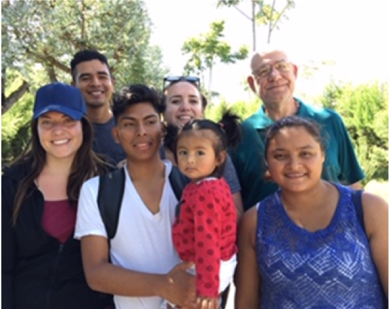 Guatemala, October, 2018    Front row:  My daughter, Annie. Ben, with his niece. Ben's sister-in-law.  Back row:  Brayan, who visited us in Minnesota some years ago. Our family friend, Ashley. My husband, Tom.
