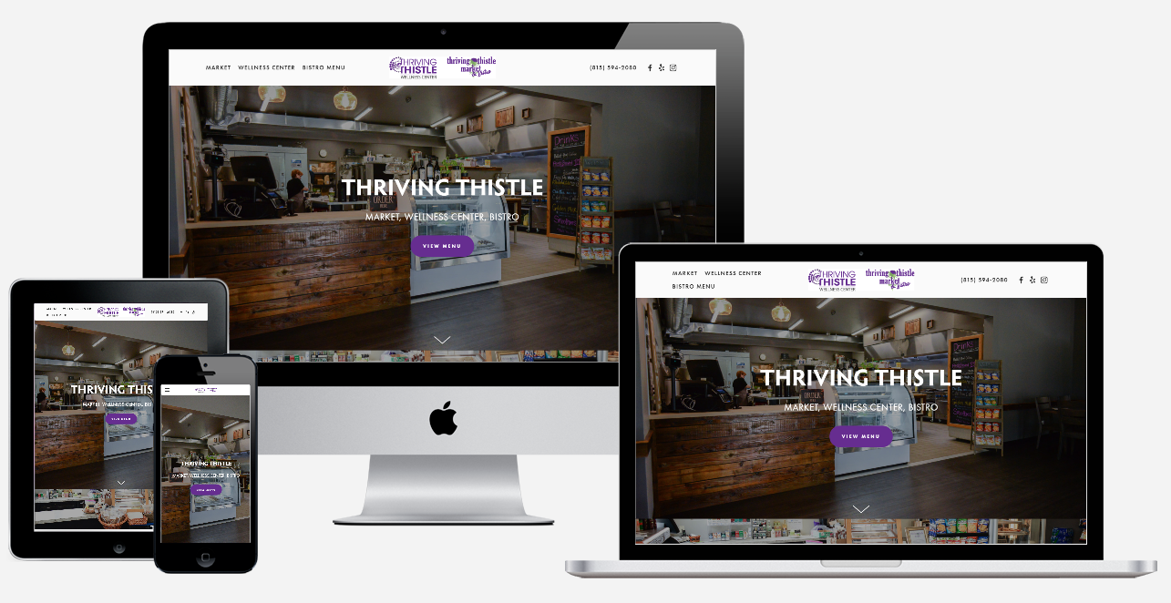 Thriving Thistle Website Screenshots - Simple Steps Web Portfolio