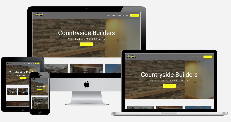 Countryside Builders Website Screenshots - Simple Steps Web Portfolio