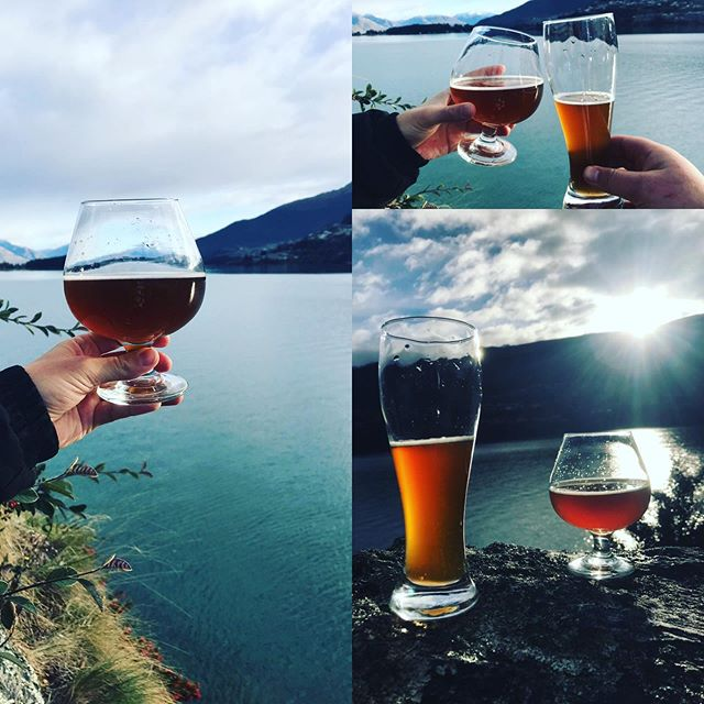 Cheers Queenstown. Bring a friend or make a friend with @hoponbeertoursnz Socialise over some great local craft beer and enjoy all the dramatic scenery today