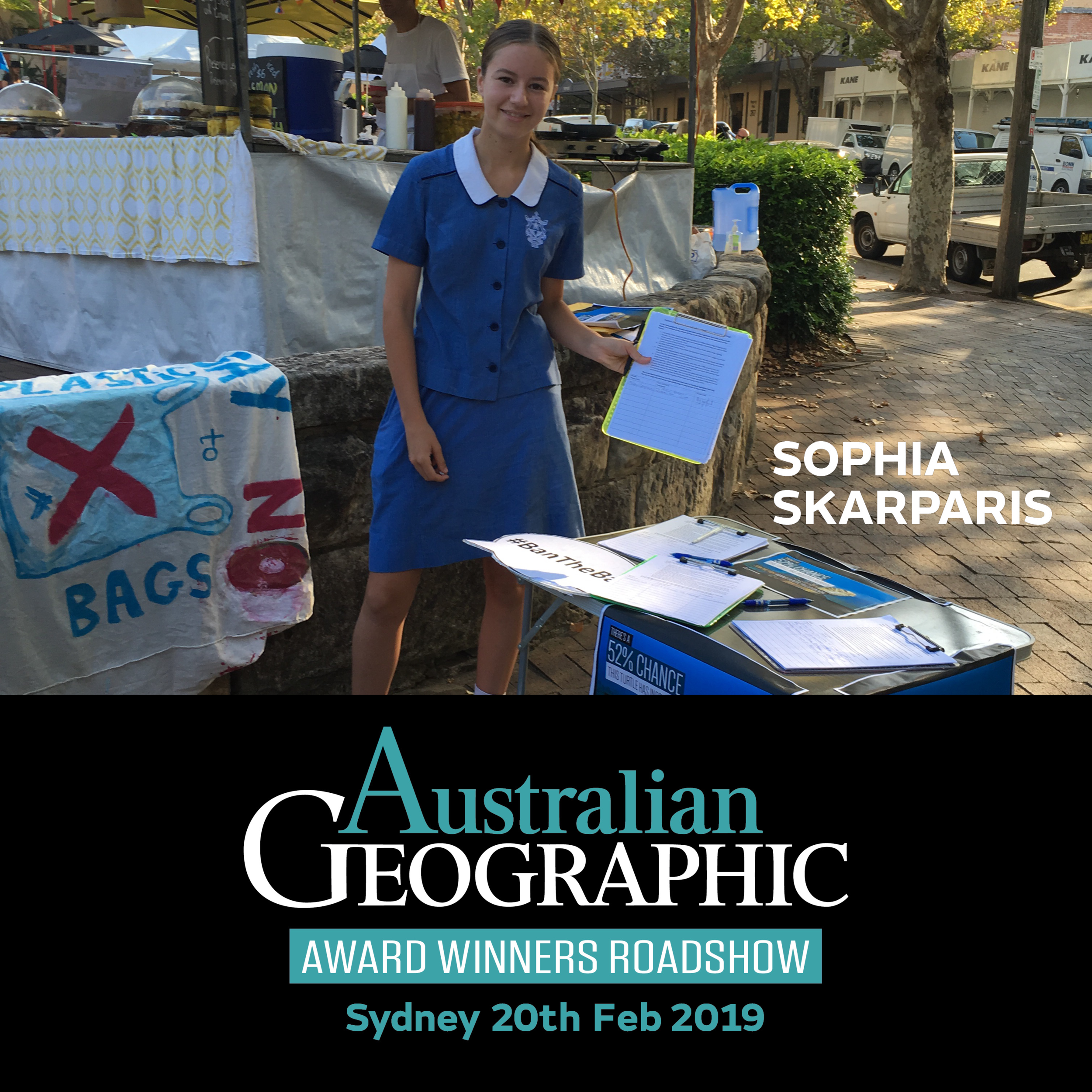 Promotion of 2019 Australian Geographic Award Winners roadshow