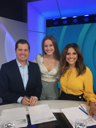 Channel 7 Daily Edition hosts LR Ryan Phelan, Sophia and Sally Obermeder
