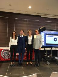 L-R speakers Grace McKeon, Sophia, Gabe Marzano, Linda Carroll