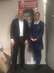 NSW Minister Energy & Environment, Matt Kean and Sophia in Matt's office