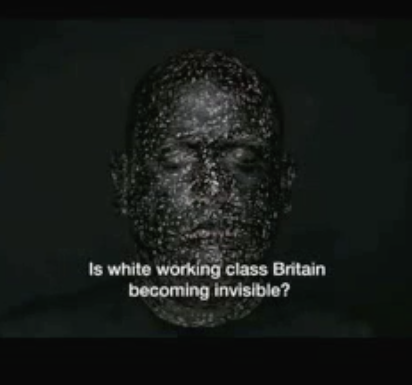 Grainy screenshot from the trailer to BBC 2 series 'White Season', dissected in this podcast. The background music to this trailer is a version of 'Jerusalem'.