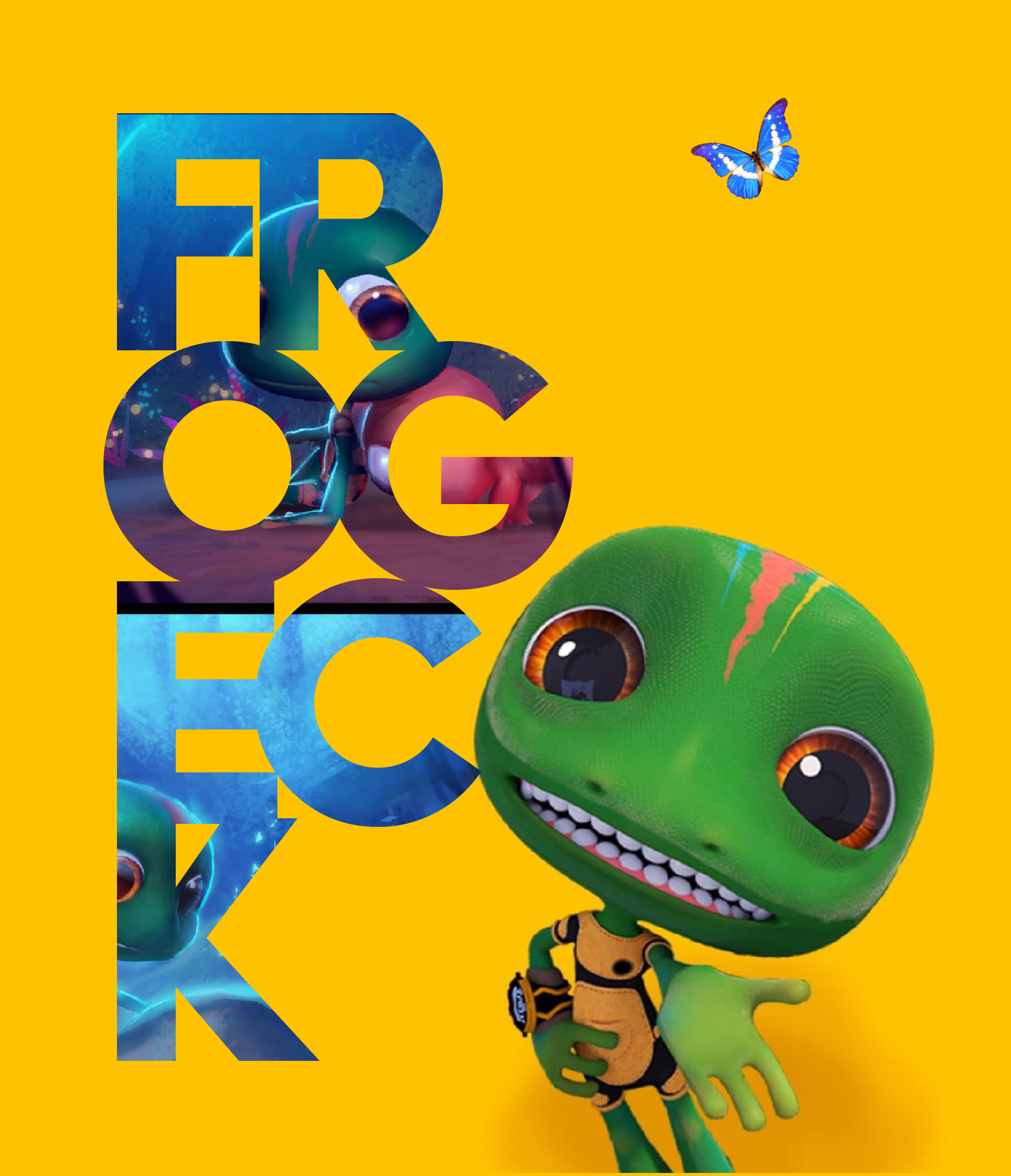 Frogeck Yellow Background Mobile Wallpaper  Dimension: 1242x2209px