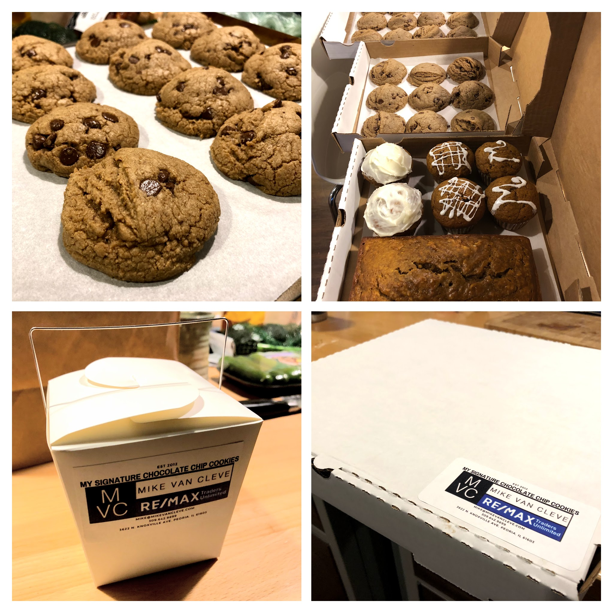 Mike is an avid baker and makes his Signature Chocolate Chip Cookies for clients, friends, and family.