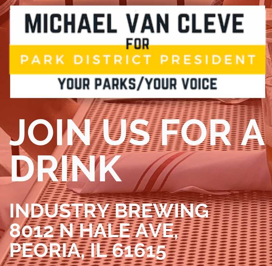 Thursday March 21st  5:30 - 7:30pm Industry Brewing 8012 N Hale Ave Peoria, IL 61614