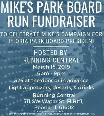 Friday March 15th 6pm - 9pm Running Central