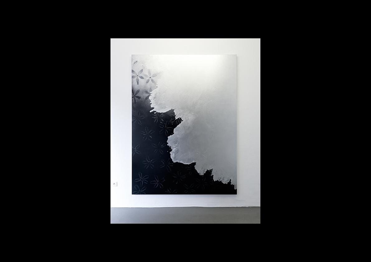 Cool Water III, 2014  Lackspray auf Baumwollstoff 240 x 180 cm