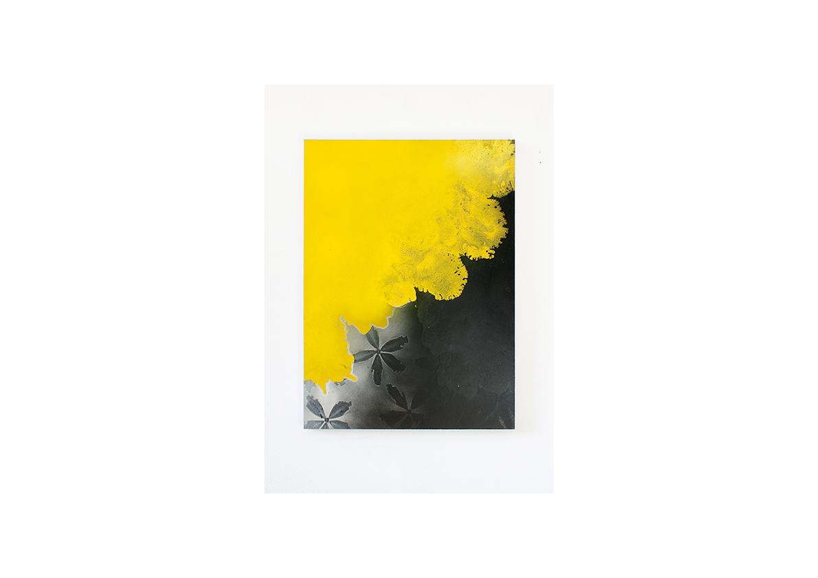 Duel (für Isabelle), 2013    Lackspray auf Baumwollstoff 110 x 80 cm