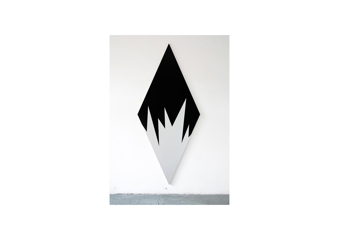 Lightning Bolt, 2012    Acrylfarbe auf Baumwollstoff 250 x 110 cm