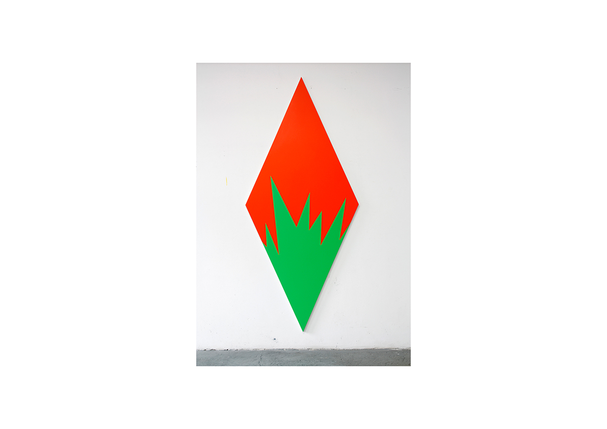 Venganza, 2012    Acrylfarbe auf Baumwollstoff 250 x 110 cm