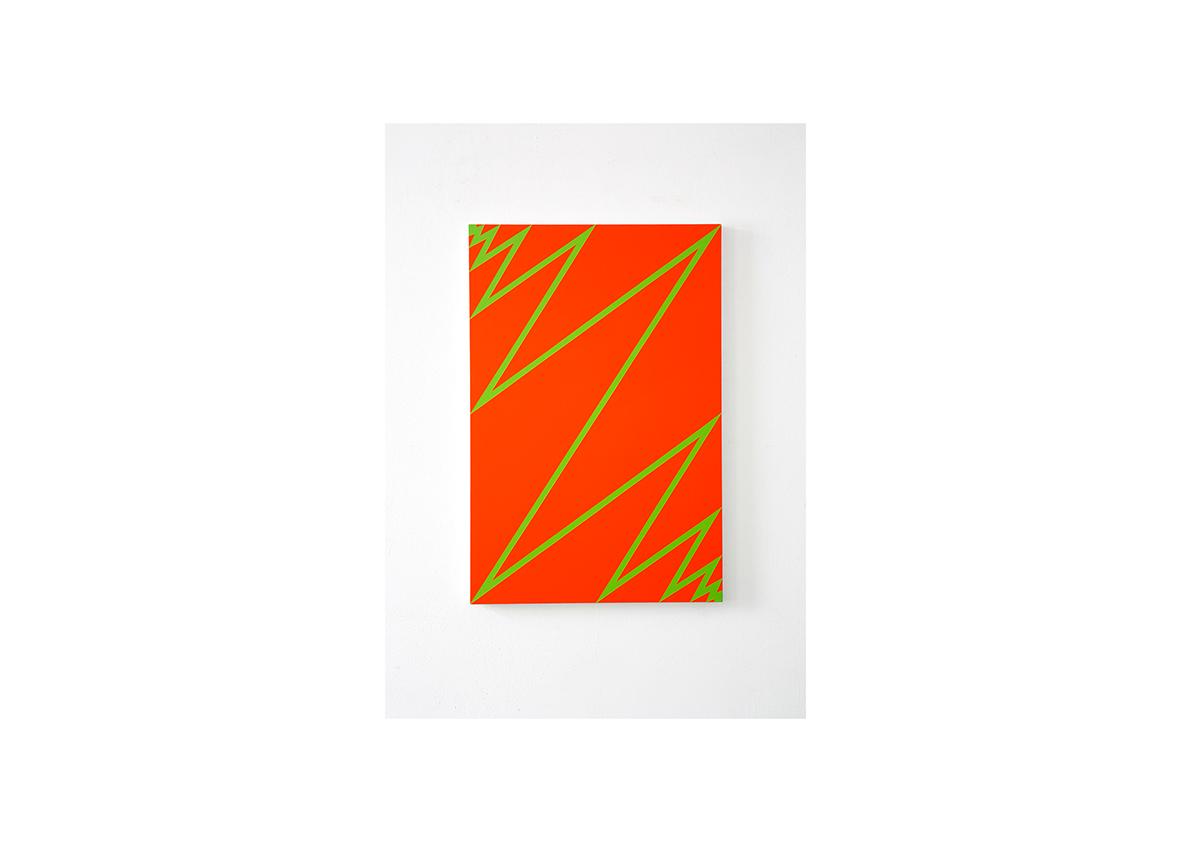 Lightning, 2012    Lackspray auf Baumwollstoff 90 x 60 cm