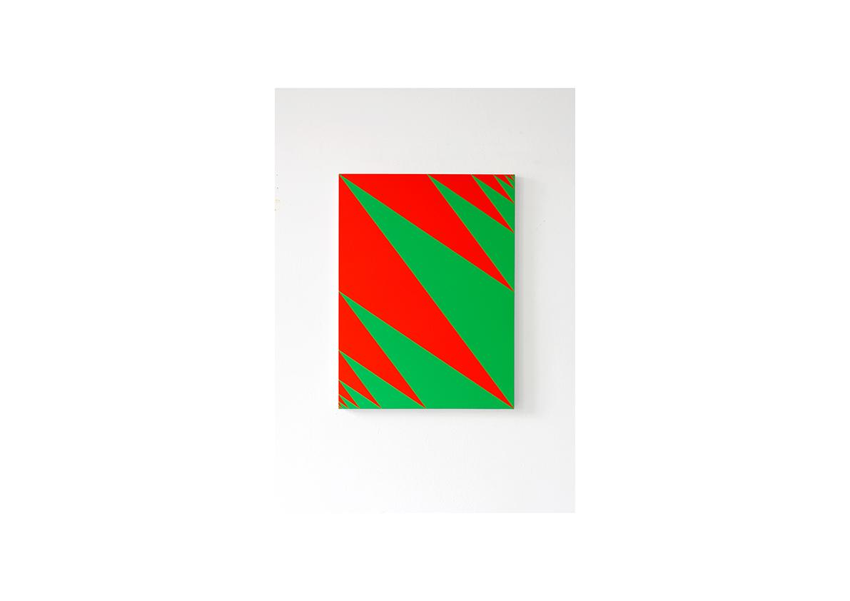Konfrontation II, 2012    Acryl auf Baumwollstoff 80 x 60 cm