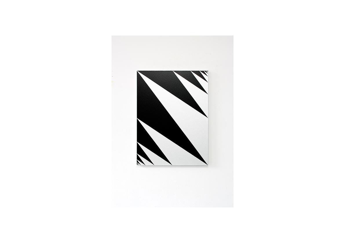 Konfrontation III, 2012    Acryl auf Baumwollstoff 80 x 60 cm