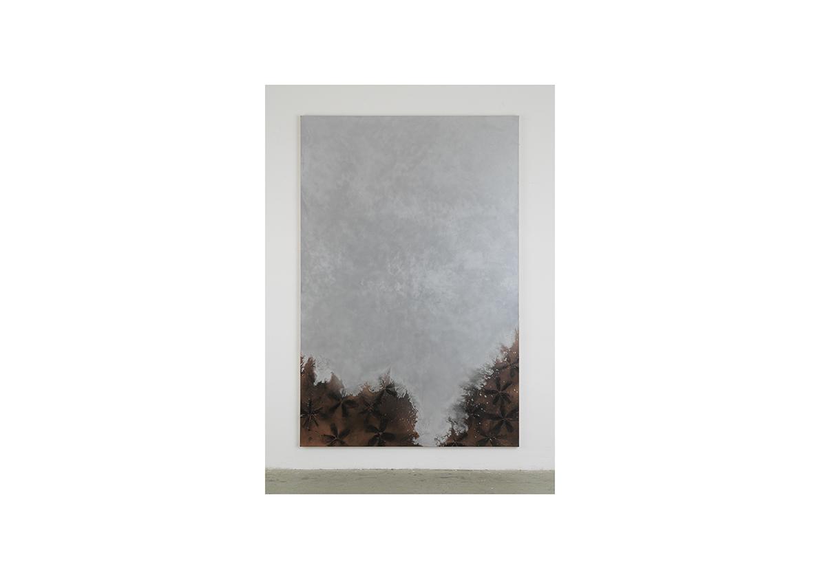 Lawine, 2006    Lackspray auf Baumwollstoff 295 x 195 cm