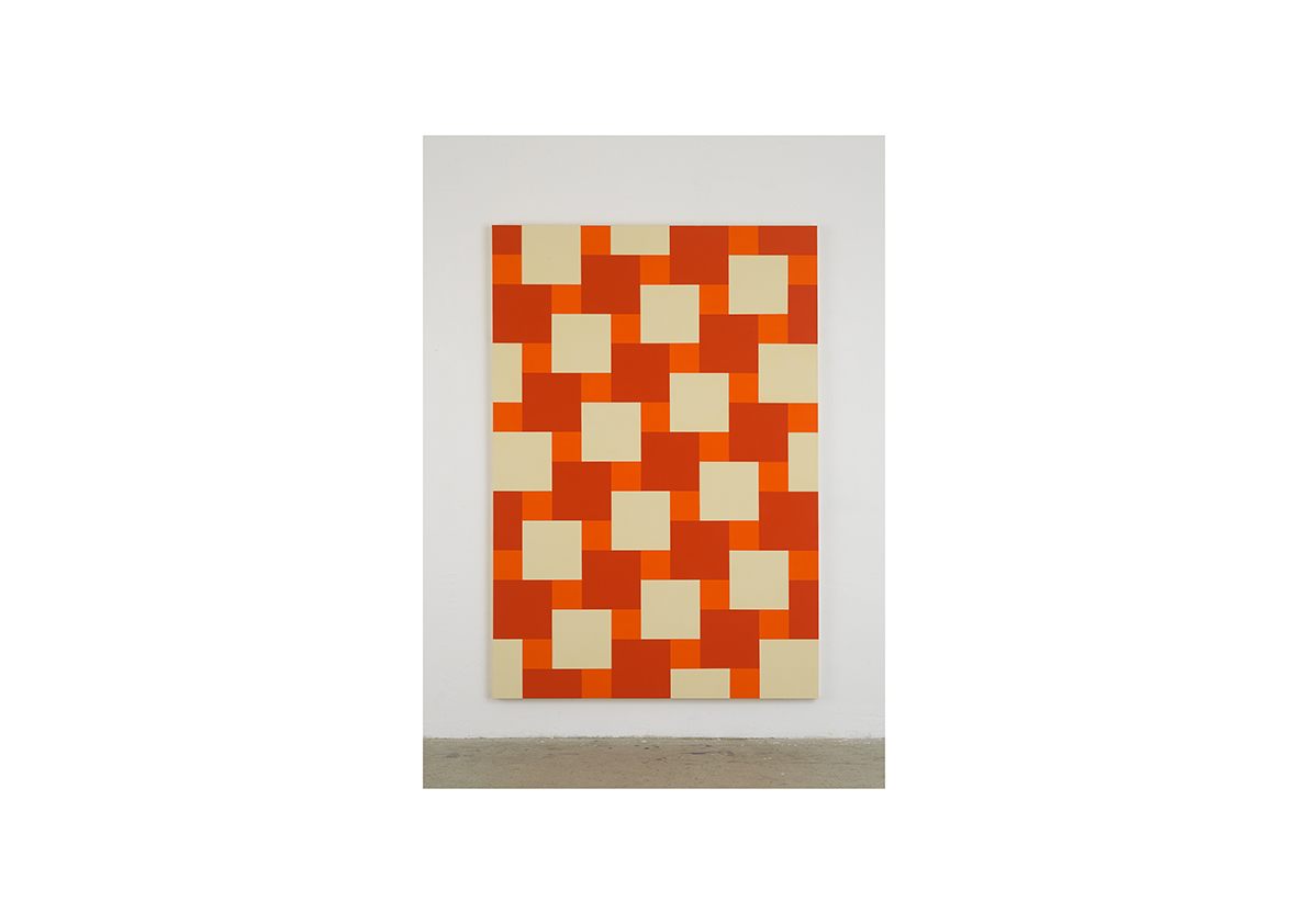 Broken Rules (Foot), 2006    Acrylfarbe auf Baumwollstoff 240 x 165 cm