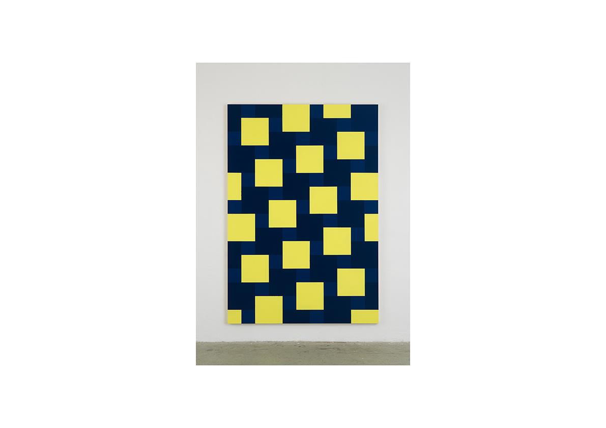 Broken Rules (Arm), 2006    Acrylfarbe auf Baumwollstoff 240 x 165 cm