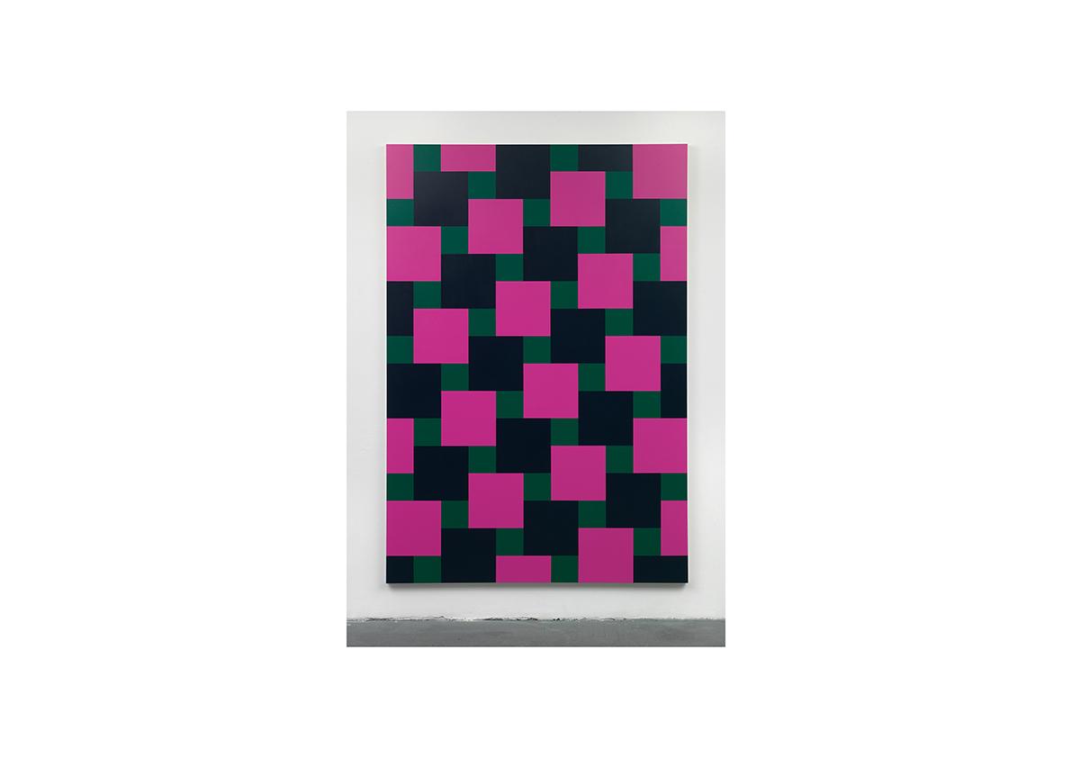 Broken Rules (for Daniel), 2009    Acrylfarbe auf Baumwollstoff 240 x 165 cm