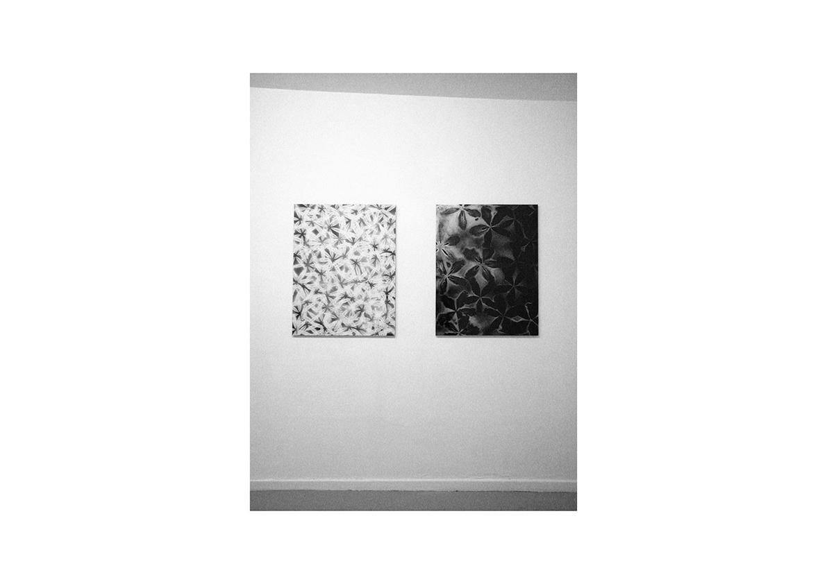 Ohne Titel, 2003    Lackspray auf Sperrholz je 90 x 70 cm