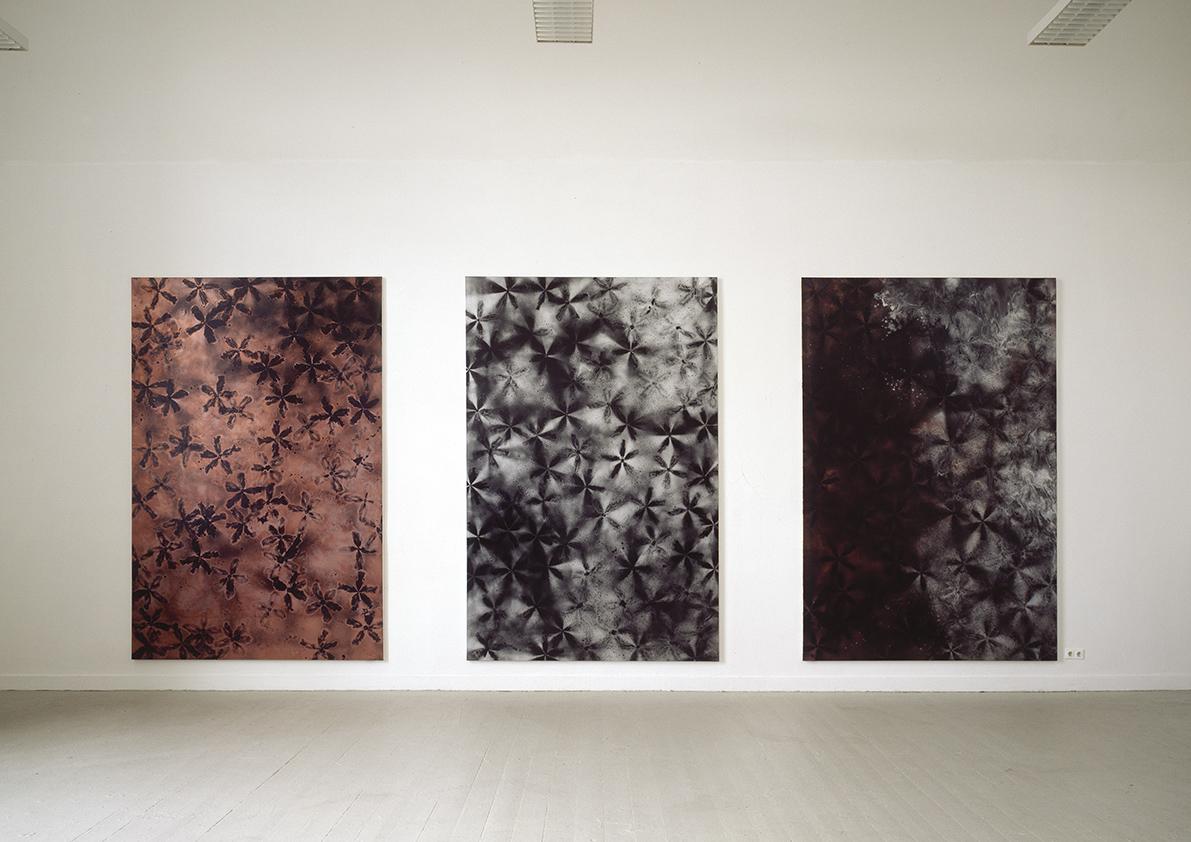 Akademie Düsseldorf 2005 Ohne Titel, 2004Lackspray auf Baumwollstoffje 295 x 195 cm